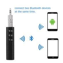 Bluetooth Hands free Music 3,5 мм jack автомобильный комплект аудио приемник адаптер авто AUX комплект для динамиков наушников автомобиля стерео клип получения
