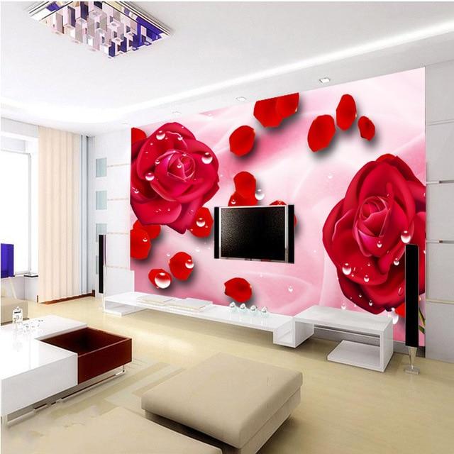 Hot custom design large mural wallpaper fresco photo bedroom fabric ...