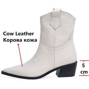 Image 3 - FEDONAS แฟชั่นชี้ Toe รองเท้าส้นสูงผู้หญิงรองเท้า Slip บนรองเท้าตะวันตกของแท้รองเท้าหนังสั้นรองเท้า Party รองเท้าผู้หญิง