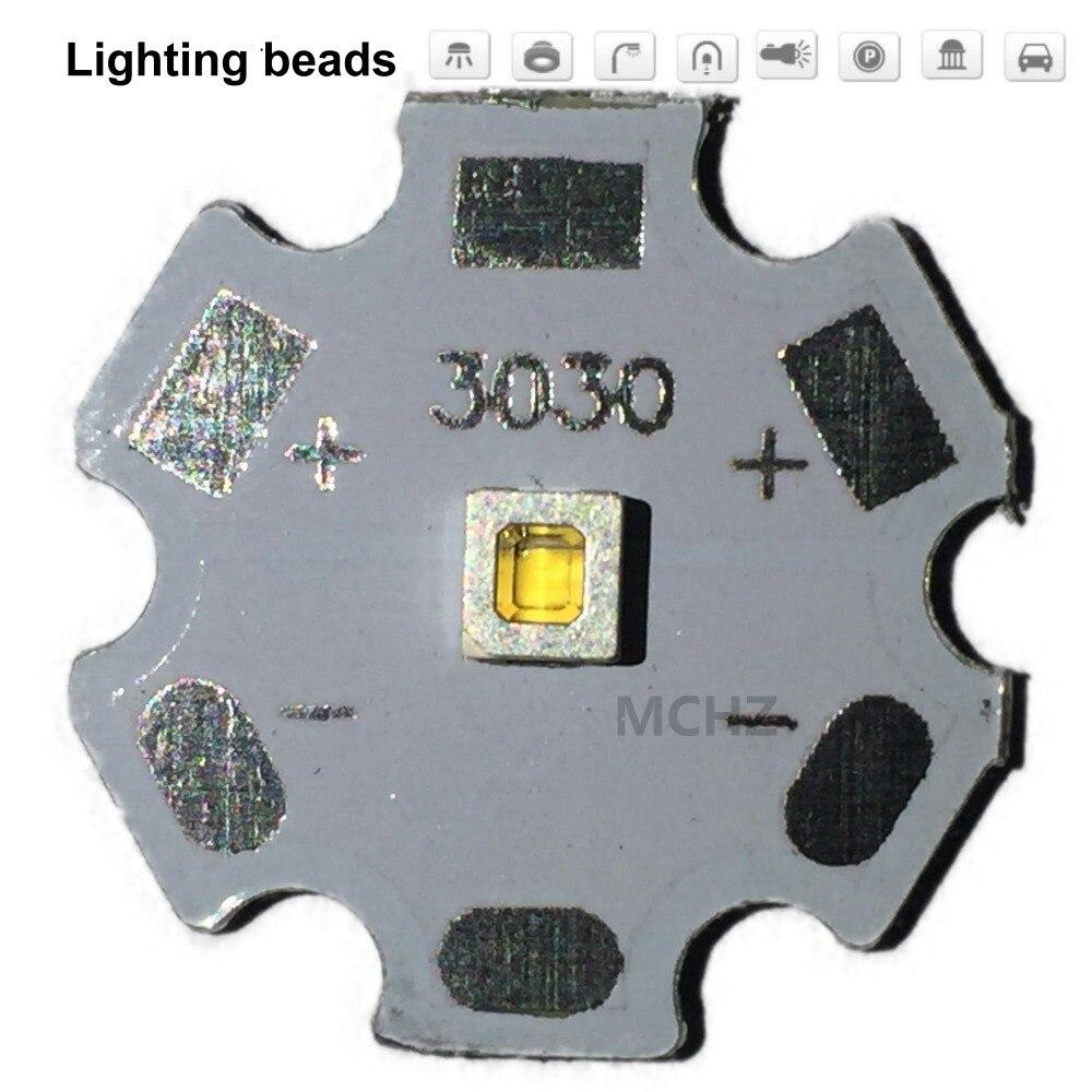 25pcs Samsung 3030 2W PCS Cree XPE XP-E /XTE XT-E/XPG XP-G 3535LED PCB Aluminum Board 20mm For DIY LED