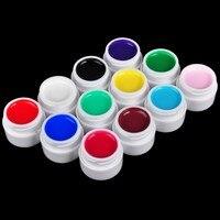 12 PCS Lot Mini 8ML Nail Art UV Gel Nails Polish Long Lasting Nail Gel Extension
