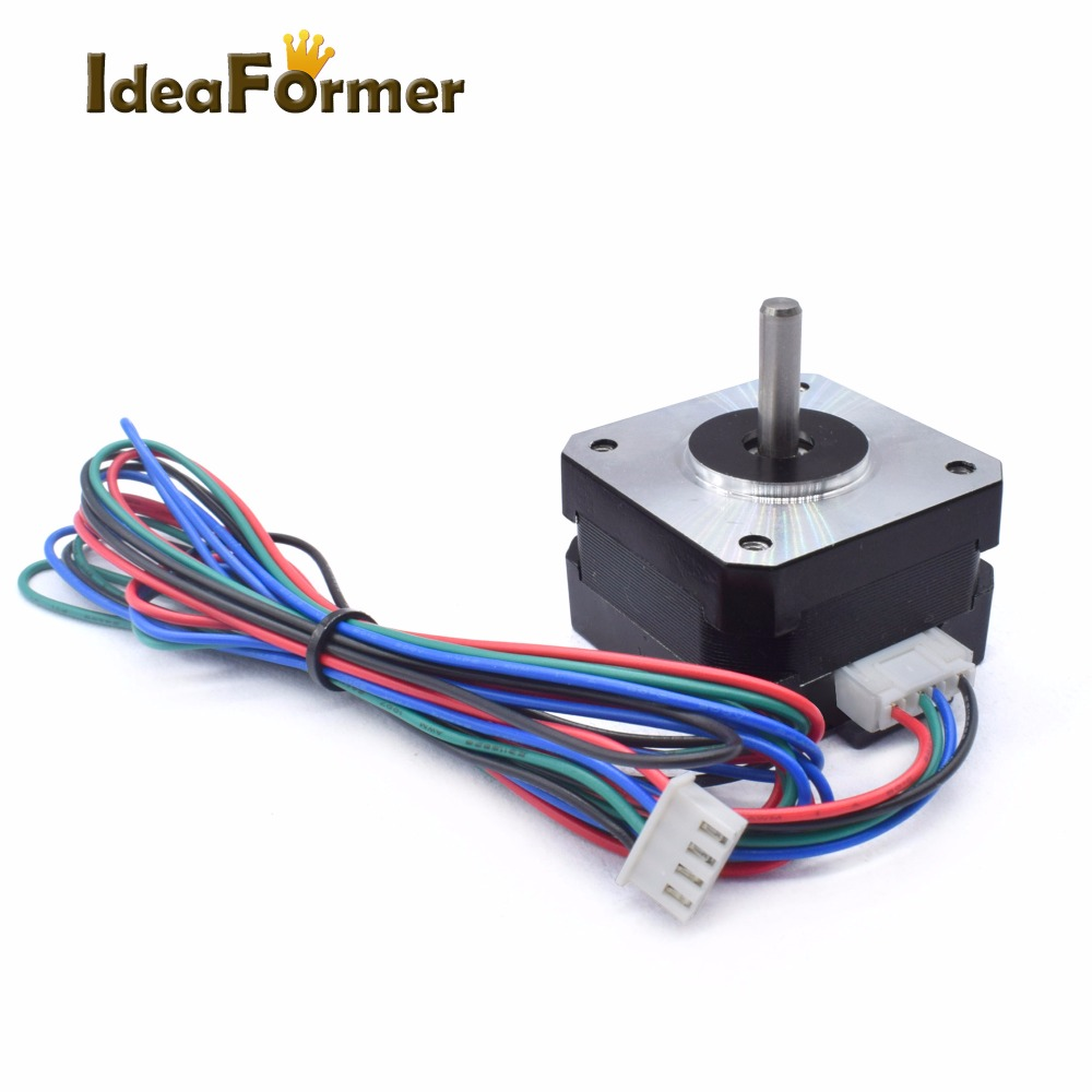 Детали для 3D принтера, гибридный двухфазный шаговый двигатель с ЧПУ Reprap Nema 42, 1,8 градусов, 220 мн. М (31 унций. Дюйм), высота 26 мм, 42BYGH033 A 18Y 3d printer printer 3dnema 17 reprap   АлиЭкспресс