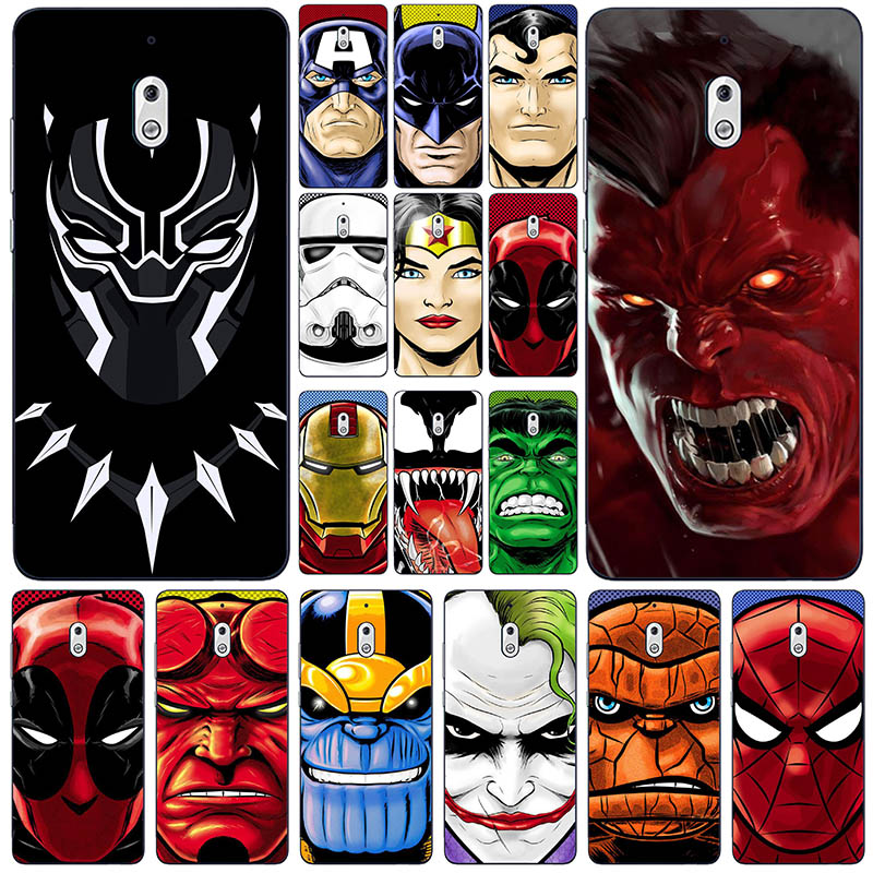 Silicone Fashion hero Back Phone Case <font><b>For</b></font> <font><b>Nokia</b></font> <font><b>2.1</b></font> TA-1080 TA-1084 A-1086 TA-1092 TA-1093 <font><b>nokia</b></font> 2 <font><b>2018</b></font> Mobile Phone <font><b>Cover</b></font> image