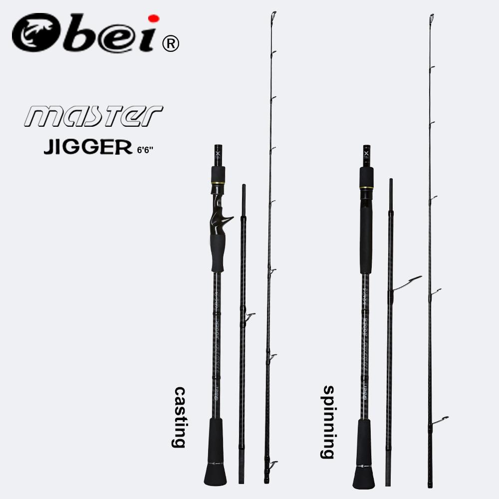 Obei MASTER Boat Fishing Rod Slow jigging 100 500G travel Spinning Casting lure rod 30 80IB