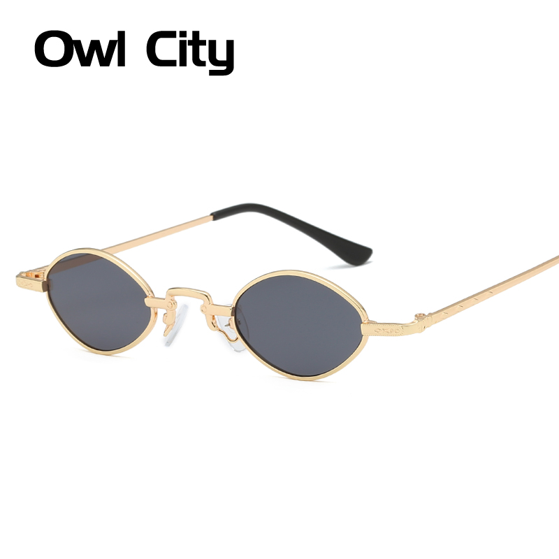 Owl City Oval Sunglasses Women Vintage Ladies Small Sun Glasses Brand Designer Retro Womens Eyewear Shades Narrow Sunglass UV400