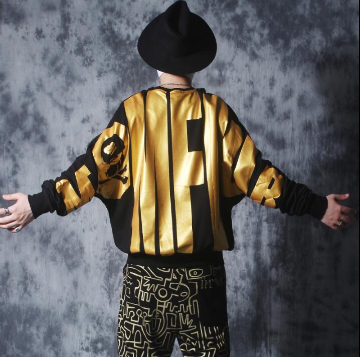 Hiver 2019 nouvelle version Coréenne de la tendance de chemise à manches longues hip hop hot or hommes marée lâche manches chauve-souris pull
