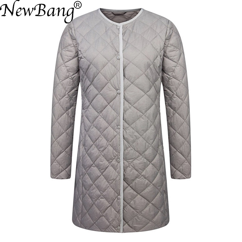 NewBang Brand Ultra Light Down Jacket Women Duck Down Coat Female Diamond Thin Warm Lighteight Liner