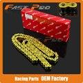 Cadena de oro 520 VF X Anillo de Sello 120 Enlace CRF250 CRF450 CR RMZ250 DRZ400 WR250F YZ250F WR450 T4 T6 KAYO Bici de La Suciedad Motocicleta de Carreras