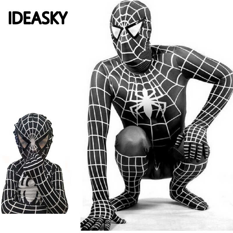 black venom homecoming the amazing spiderman costume adult children spider man red kids boy costumes men lycra avenges Superhero