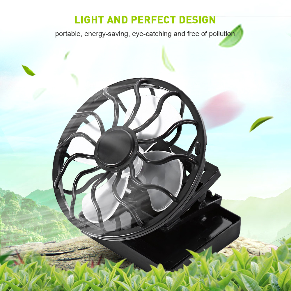 Wholesale Mini Clip-on Solar Power Energy Panel Cooling Cell Fan Cooler Cooling Fan Portable Solar Fan for Travel Camping