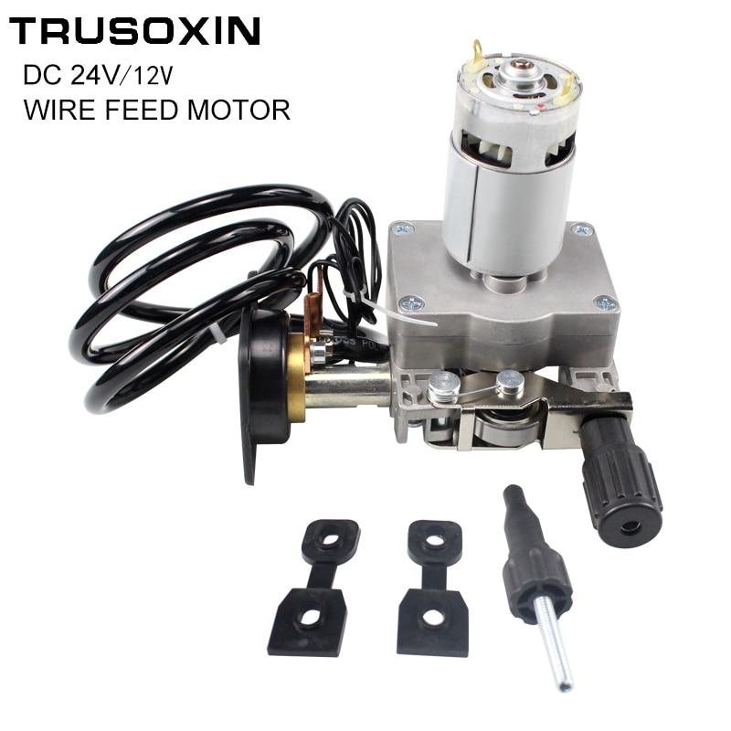Welding Machine Accessories DC12V 24V Wire Feed Assembly Wire Feeder Motor MIG Welding Machine Welder Euro