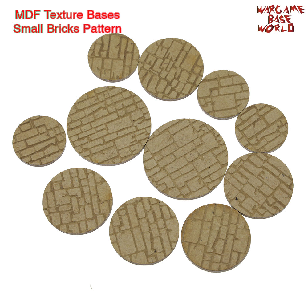 MDF Texture Bases - 25mm - 40mm Rough/Small Rock Wall Bricks Texture Bases- Laser Cut