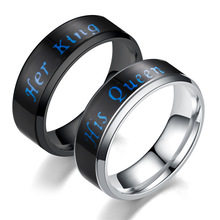 Stainless steel mood change change feeling emotion smart temperature your king your Queen ring women men smart jewelry change your life