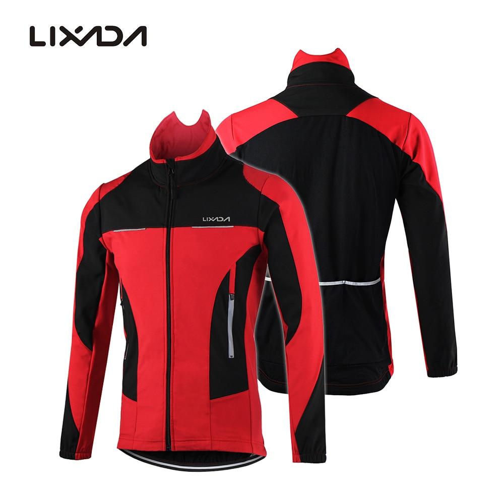 Jacket Sportswear Winter Men Lixada Coat Cycling Long-Sleeve Riding Comfortable Water-Resistant