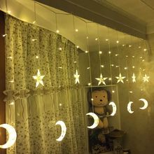 Christmas Decorations for Home LED Star Moon Curtain Light Ice Bar String New Year Lights Outdoor Navidad .
