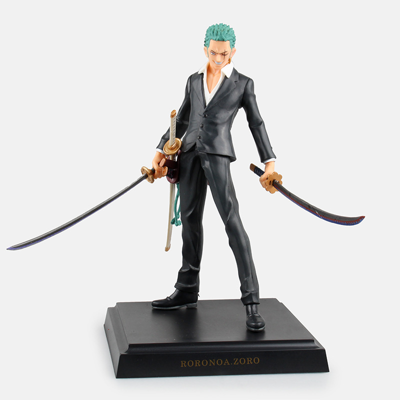 Anime <font><b>ONE</b></font> <font><b>PIECE</b></font> <font><b>Ichiban</b></font> <font><b>Kuji</b></font> Dressrosa Prize C Roronoa Zoro PVC Action Figure Doll Resin Collection Model Toy Gifts GS0175 image