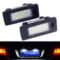 2 pcs car led license plate luz led lamp 12 v Branco 6000 K Para bmw e60 E82 E90 E92 E93 M3 E39 E60 E70 X5 E39 E60 E61 M5 E88