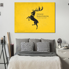 Game Of Thrones Houses Wall Art Canvas Posters Prints Painting Picture Artwork For Bedroom Modern Home Decoration Framework