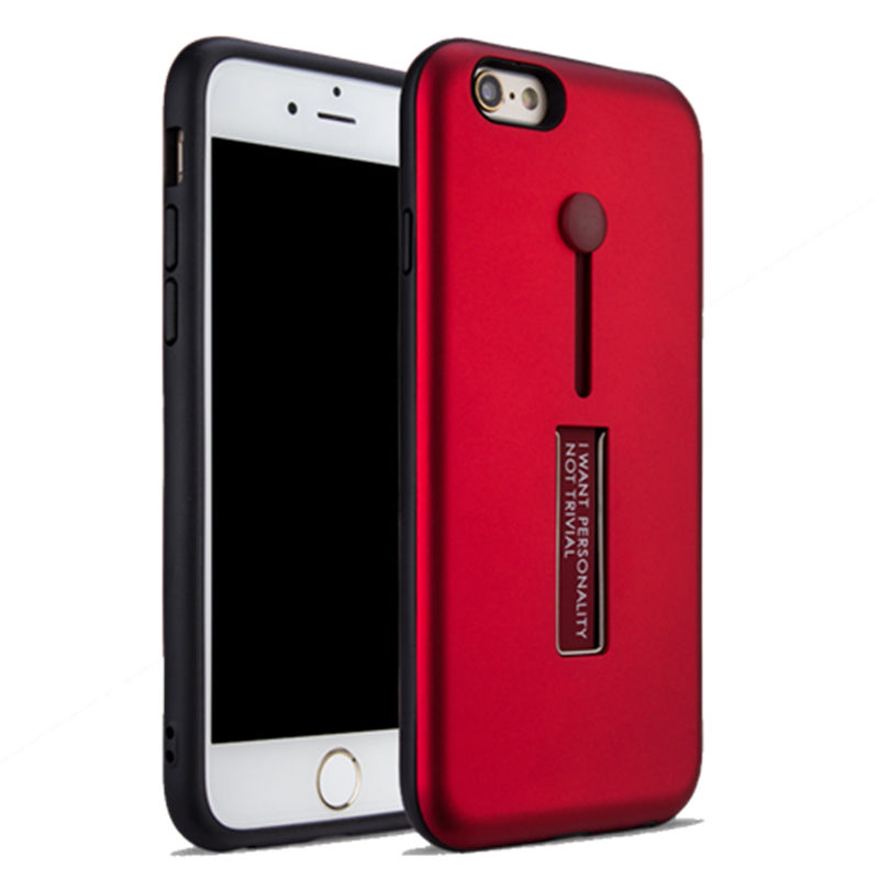 Stylish <font><b>Phone</b></font> Case For Apple iphone On 6 6S Flexible Stand Cover With Finger <font><b>Ring</b></font> Silicone+<font><b>Plastic</b></font> Case For iphone 6Plus 6S Plus