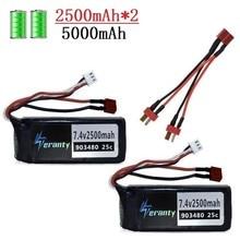 Upgrade 3000mah/4000mah/5000mah 7.4v battery for Wltoys 12428 12423 RC