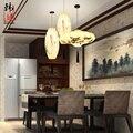 Новый китайский стиль ткань подвесные светильники Ресторан антикварные лампы оригинальность классическое искусство ручной paintinglamp LU621 ZL495