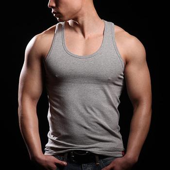 Męskie podkoszulek bielizna fitness obcisłe podstawowe jednolity kolor męskie podkoszulek podkoszulek bez rękawów mężczyźni bielizna męska tanie i dobre opinie COTTON basic tops summer CEESEE vest
