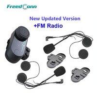 Free Shipping Updated Version BT Bluetooth Motorcycle Helmet Intercom Headset With FM Radio Extra Earpiece Bracket