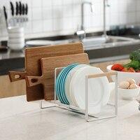 Kitchen Rack, Dish Rack, Household Multi functional Storage Rack, Leachate Rack, Wood, Iron, Art, Nordic Japanese System