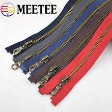 Meetee 1pcs 70cm 5# Bronze Open End Metal Zipper DIY Sewing Leather Jacket Coat Zip Bag Garment Craft Accessories BD251