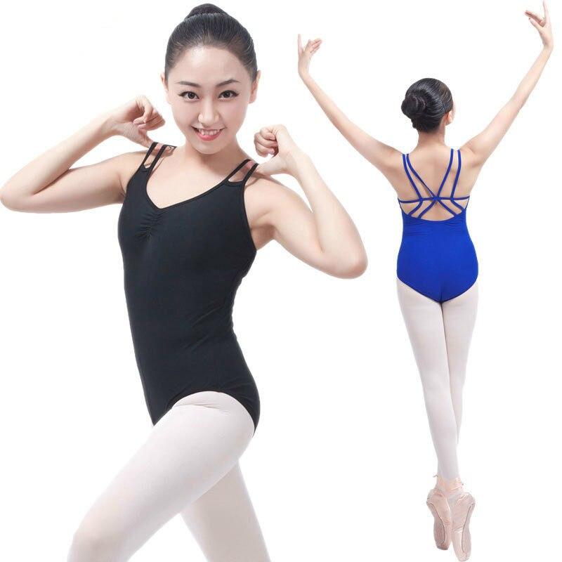 Ballet Dancewear Adult Dance Practice Gymnastics Leotards sexy Backless Sleeveless Spandex Cotton Ballet Leotards For Women