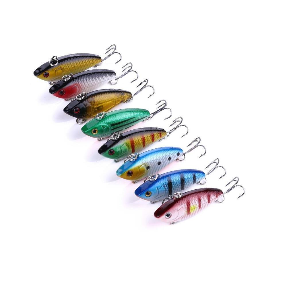 400pcs 5cm 6g hard game vib fishing lures bass wobbler pike carp trout perch catfish baits pesca tackles