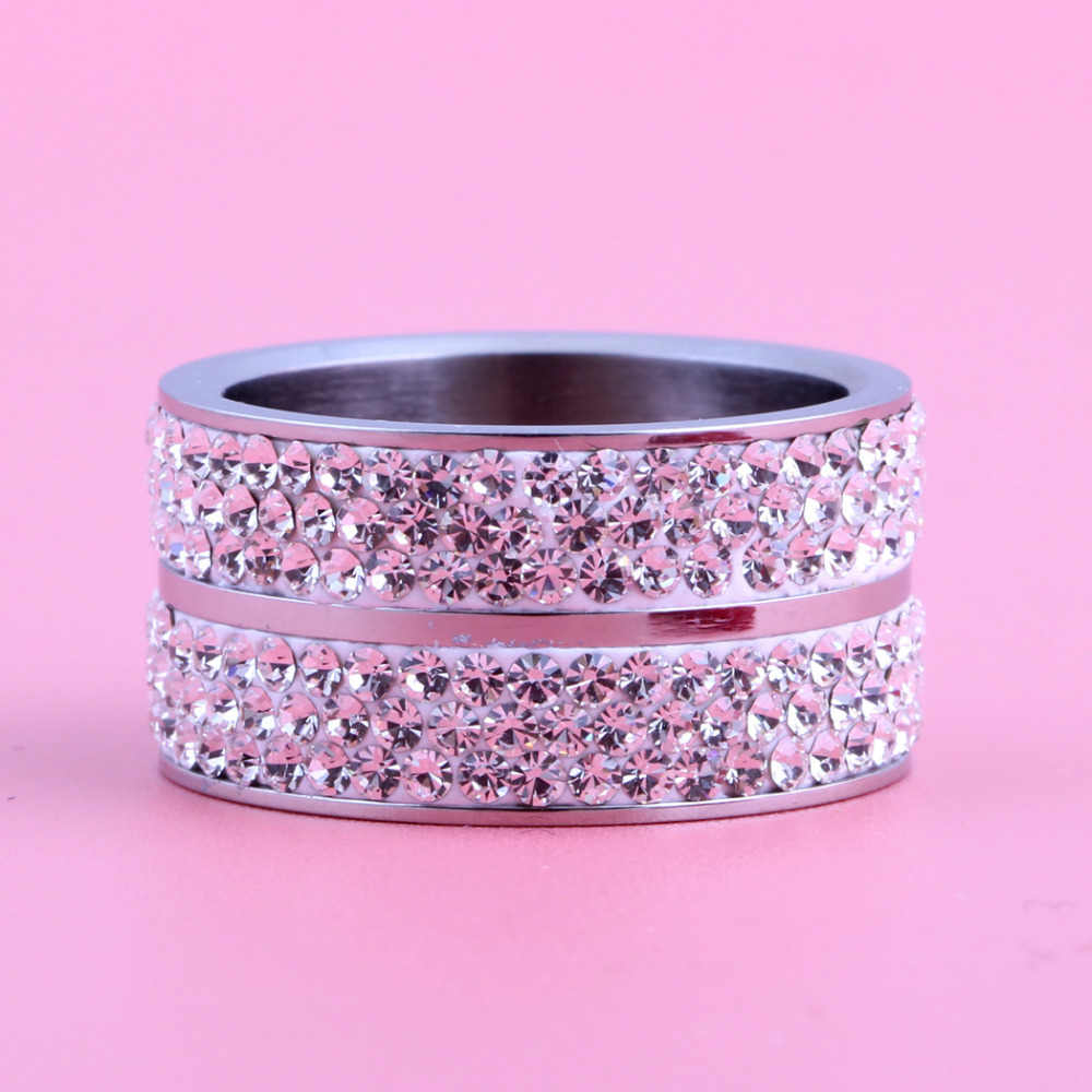 Wholesale High Quality Classic Stainless Steel 6 Row Crystal Jewelry ...