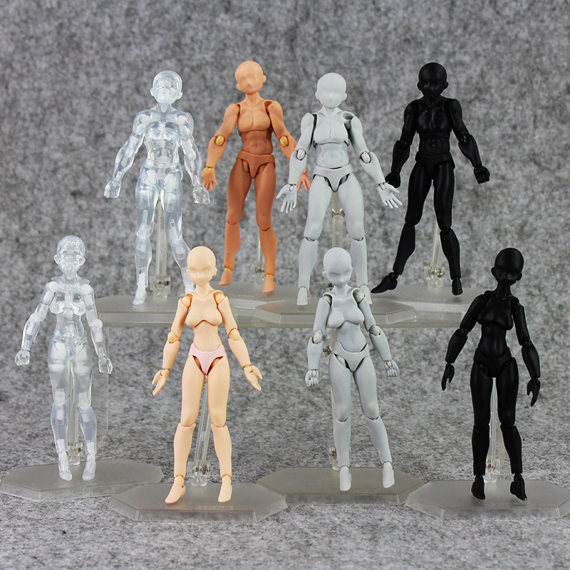 8Style BODY KUN Anime Brinquedos Cosplay Archetype He Archetype She Ferrite Figma Movable PVC Action Figure