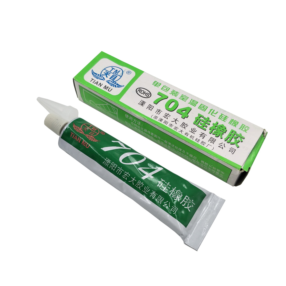 Adhesives & Sealers 704 Fixed High Temperature Resistant Silicone Rubber Sealing Glue Waterproof Black Sufficient Supply