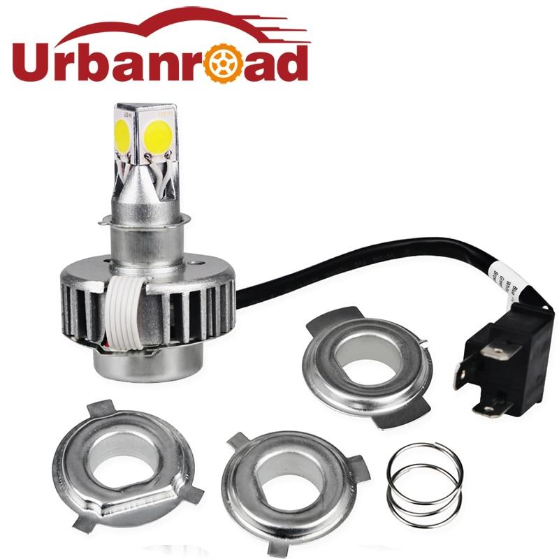Ba20d H6 H4 Led Motorcycle Headlight Bulbs Hi Lo 12v Motorbike Led Light Bulb Farol De Moto Motor Head Light Lamp For Cafe Racer