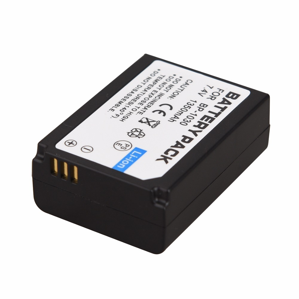 1pc 7.4V 1350mAh BP-1030 BP1030 BP1130 BP-1130 Repalcement Camera Battery For Samsung NX200 Camera Rechargeable Digital Battery