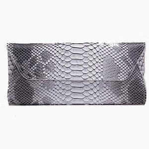 Image 3 - Yirenfang Women Leather Handbags Clutch Fashion Women Messenger Bags Clutch Small Crocodile Pattern Genuine Leather Womens Bag