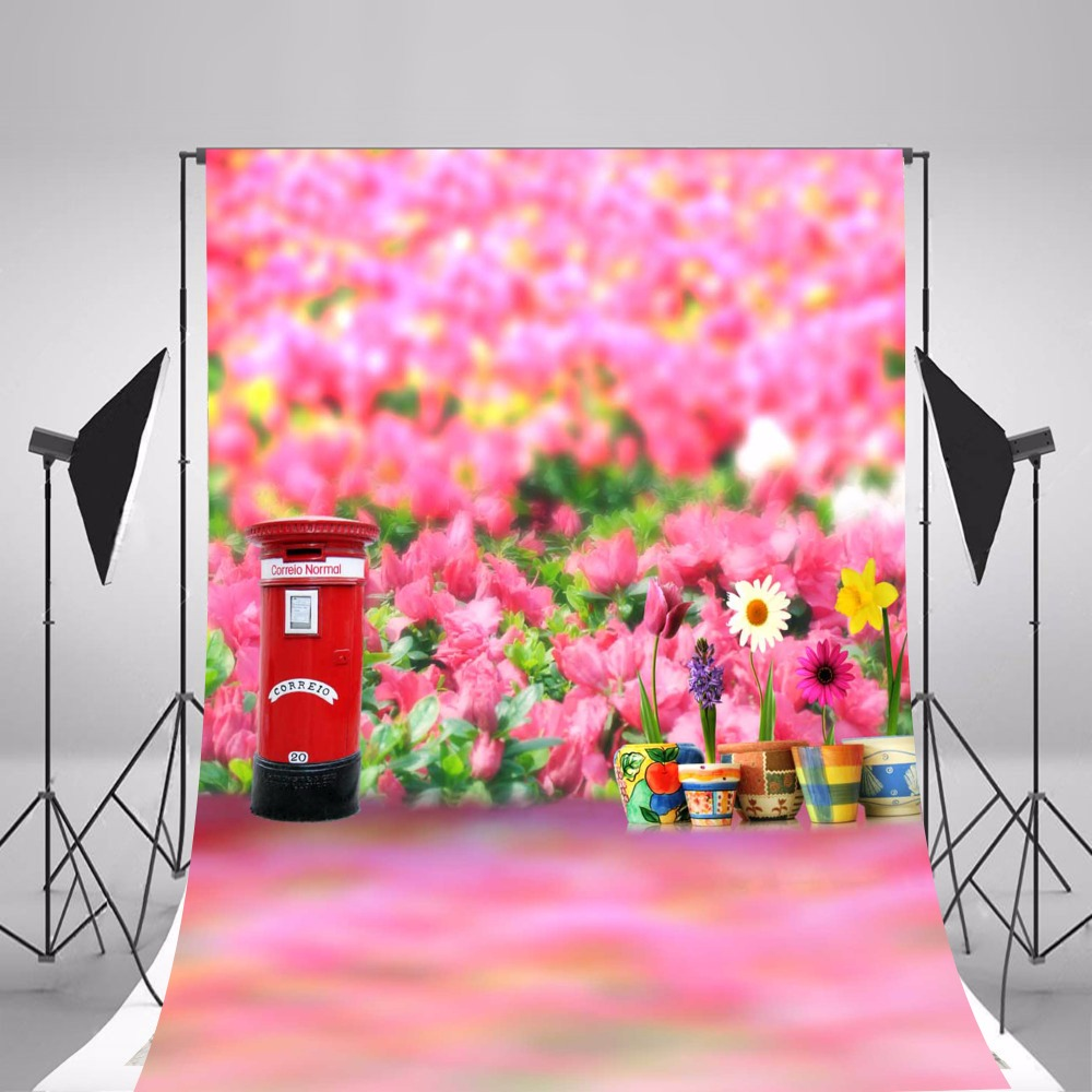 2017 Children Photographic Backgrounds Pink Flowers Photo Backdrops Cloth Vinyl Backgrounds For Photo Studio Fundo Fotografia new arrival background fundo hydrant balloon flowers 600cm 300cm width backgrounds lk 2982