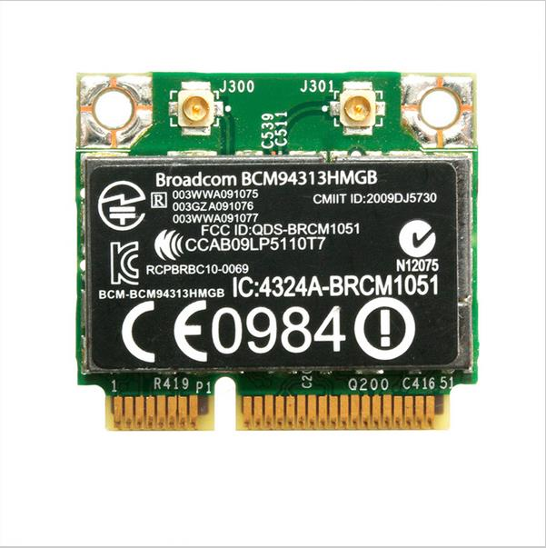 Nouveau wlan carte bcm94313hmgb pour hp pavilion dv7-6000 dv6-6000 802.11n wifi + bluetooth 3.0 600370-001 mini pci-e carte