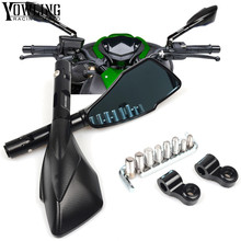 Motorcycle Rearview Side Mirror Handle Bar Rear view Mirrors For TRIUMPH Speed Triple R Tiger 800 1050 800XC Daytona 955i 675 R 7 8 22 mmmotorcycle hand bar ends handlebar grips ends for triumph daytona 675 675 r speed triple 1050 1050 r street triple r