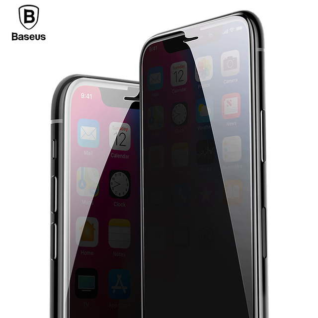 half off deb52 d4105 US $9.99 40% OFF|Baseus Anti peeping Screen Protector For iPhone X 10 Xr Xs  Max Privacy Protective Film Full Cover Tempered Glass For iPhoneXr Xs-in ...