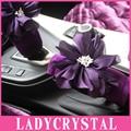 Ladycrystal Warm Velvet Handbrake Cover Cute Purple Flower Hand Bracke Grips Sleeve Car Styling Auto Interior Accessories
