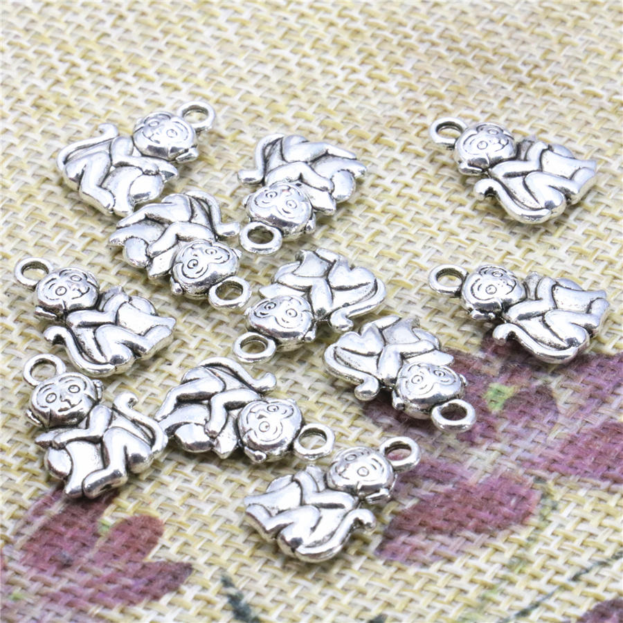 Jewelry Findings & Components New 50pcs Lucky Monkey Diy Loose Finding Accessories Accessories Copper Metal Women Jewelry Making Design 10x16mm Pendant Crafts Relieving Rheumatism