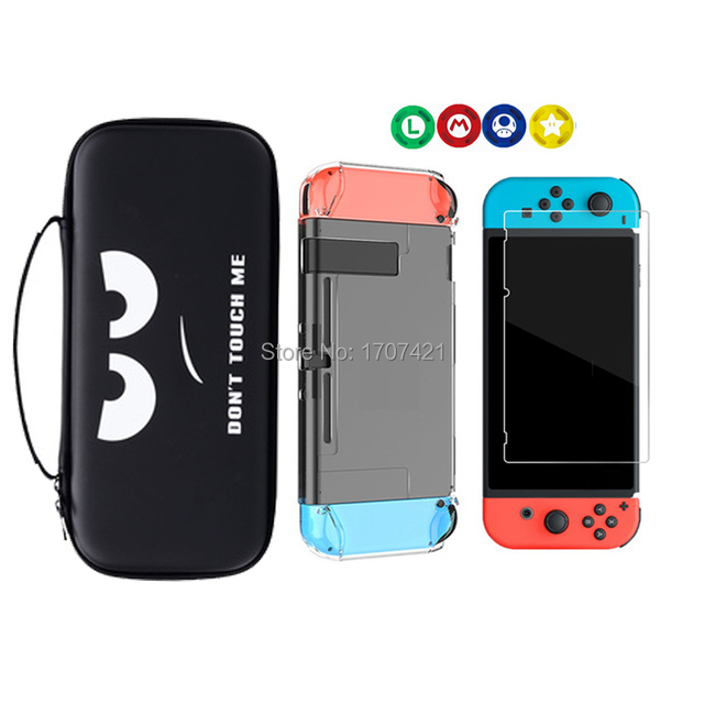 8 in 1 for Nintend Switch Carrying Storage Bag Tempered Glass Screen Protector for Nintendoswitch Hard Shell Case for NS Switch