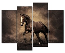 4 panel frame Pentium horse fresco art artist living room canvas print modern painting XJDC10-41