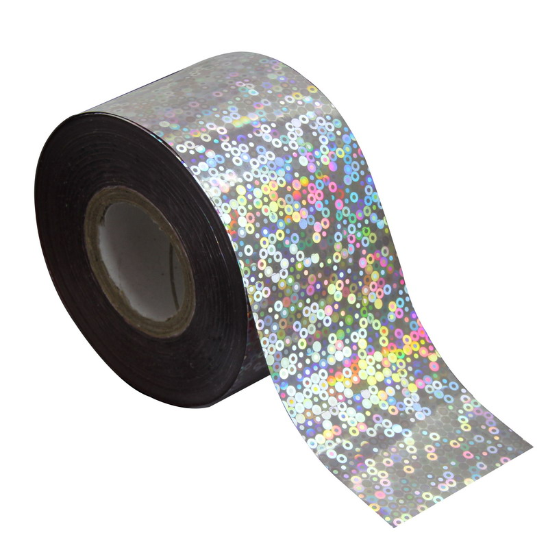 Holographic Glitter Multi Colors Dots Plastic Nail Transfer Foil DIY Nail Art Stickers 1 Roll 120m*4cm Wholesale Retail WY260 holographic manicure nail art foils diy glitter holo transfer nail foil roll women nail sticker decorations 120m 4cm wy299