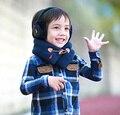 Зима дети шарф дети мода стиль детские wrap, чистый цвет маленький мальчик и маленькая девочка шарфы толстый платок, echarpes, AfW