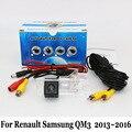Cámara de visión trasera para renault samsung qm3 2013 ~ 2016/rca cable o Inalámbrica HD Gran Angular de Lente de Visión Nocturna del CCD de Cámaras De Seguridad