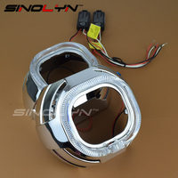 Square LED Daytime Running Light Angel Eye DRL Integrated Bezel Shrouds Masks Covers For WST Kioto