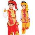 Chinês crianças crianças vestido de traje de dança roupas Miao folk para menino modernos roupas hmong crianças traje tradicional chinesa